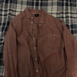 OBEY pink/maroon button up